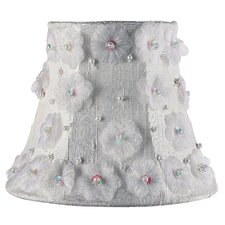 Petal Flower Chandelier Shade in White