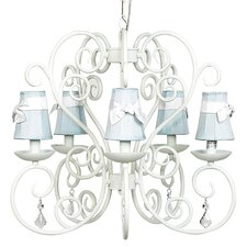 Carriage 5 Light Chandelier with Plain Shade / Sash