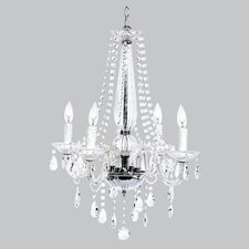 <strong>Jubilee Collection</strong> Middleton Glass 4 Light Chandelier