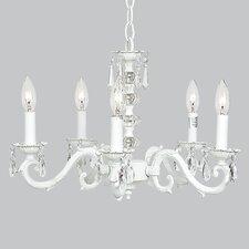 5 Light Glass Turret Chandelier