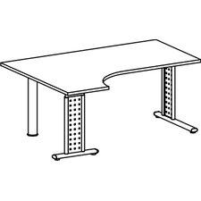 """120 x 160cm PC-Schreibtisch links """"Madrid"""" in Silber"""