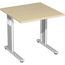 """80 x 80cm Schreibtisch """"Lissabon"""" in Silber"""