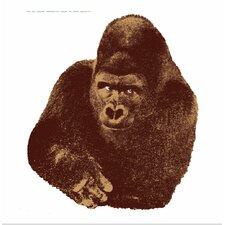 Seria della Natura Il Gorilla--Gorilla 1976 Silkscreen Graphic Art