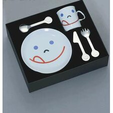 Mono Kids Flatware with Smile Child's by Peter Raacke (Set of 5)