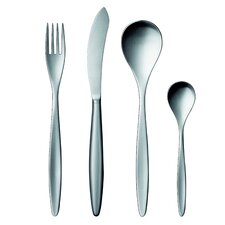 42 Collection Stainless Steel 5 Piece Flatware Set