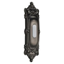 Opulent Oval Door Chime Button in Antique Silver
