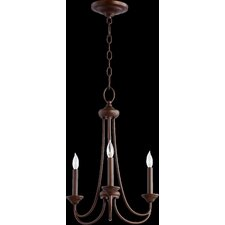 Brooks 3 Light Candle Chandelier