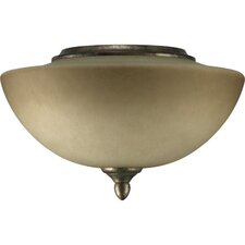 "<strong>Quorum</strong> Salon 11.75"" 2 Light Bowl Ceiling Fan Light Kit"