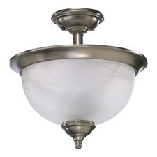 <strong>Quorum</strong> Ashton 3 Light Semi Flush Mount