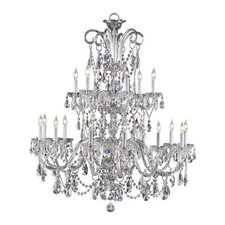 <strong>Quorum</strong> Bohemian Katerina 18 Light Chandelier in Chrome