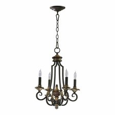 <strong>Quorum</strong> Capella  4 Light Chandelier in Toasted Sienna