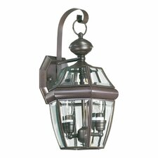 <strong>Quorum</strong> Carrington 2 Light Outdoor Wall Lantern