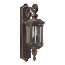 <strong>Quorum</strong> Dauphine 3 Light Outdoor Wall Lantern