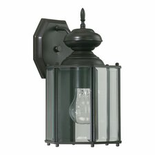 <strong>Quorum</strong> Lantern 1 Light Five Panel Outdoor Wall Lantern