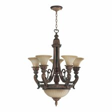 <strong>Quorum</strong> Madeleine 8 Light Bowl Chandelier