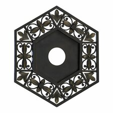 Marcela Small Ceiling Medallion in Oiled Bronze