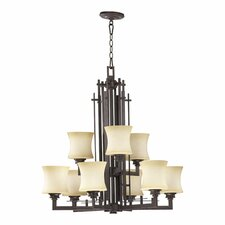 <strong>Quorum</strong> Prairie 9 Light Chandelier