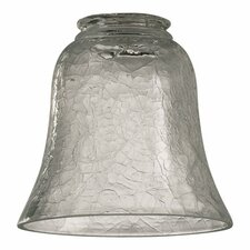 <strong>Quorum</strong> Clear Crackle Glass Shade for Ceiling Fan Light Kit