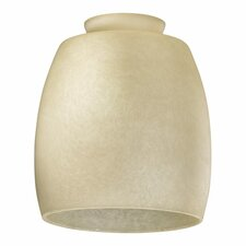 Amber Scavo Barrel Glass Shade for Ceiling Fan Light Kit