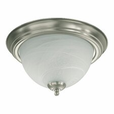 <strong>Quorum</strong> 1 Light Flush Mount