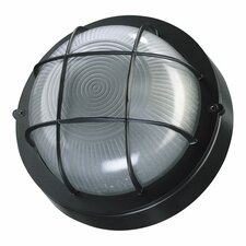 <strong>Quorum</strong> Round Bulkhead 1 Light Outdoor Wall Sconce