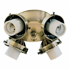 4 Light Flush Mount Ceiling Fan Light Kit