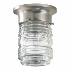 1 Light Jelly Jar Semi Flush Mount