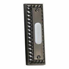 Rectangular Door Chime Button in Antique Silver