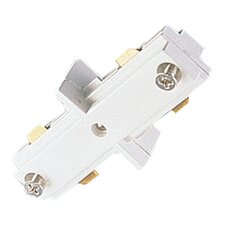 Straight Track Connector in White