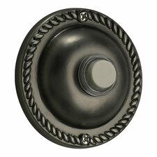 Traditional Round Door Chime Button in Antique Silver