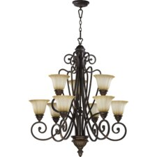<strong>Quorum</strong> Summerset 9 Light Chandelier