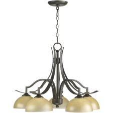 <strong>Quorum</strong> Atwood 5 Light Nook Chandelier