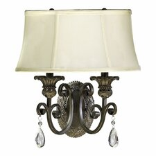 <strong>Quorum</strong> Fulton 2 Light Wall Sconce with Shade