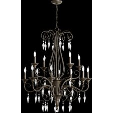 <strong>Quorum</strong> Vesta 12 Light Chandelier