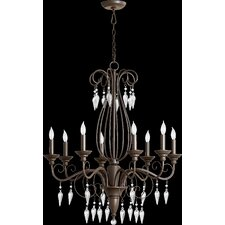 <strong>Quorum</strong> Vesta 8 Light Chandelier
