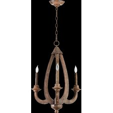 <strong>Quorum</strong> Telluride 3 Light Chandelier