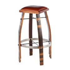 "28 - 32"" Leather  Stave Stool"