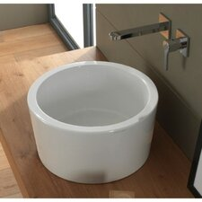 Bucket Ceramic Vessel Bathroom Sink
