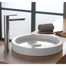 Bucket Ceramic Built-In Vessel Bathroom Sink