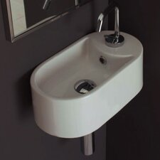 Seventy Wall Mounted Single Hole Bathroom Sink