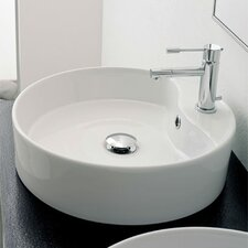 Geo Above Counter Single Hole Bathroom Sink