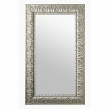 Mirror With Wood Frame in Silver Leaf