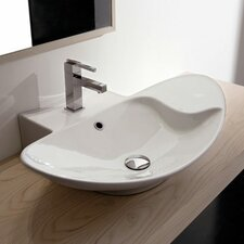 Zefiro Mensola Wall Mounted or Above Counter Bathroom Sink