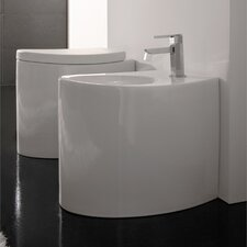 Zefiro Floor Mount Bidet in White