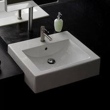 Semi Recessed Bathroom Sink
