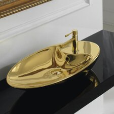 Shape Oval 1 Hole Vessel Bathroom Sink