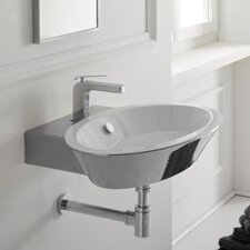 <strong>Scarabeo by Nameeks</strong> Wish Thin Edge Wall Mount Bathroom Sink
