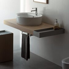 "Line 59.1"" Wall Mounted Bathroom Vanity Set"