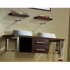 "Brio 47"" Wall Mounted Bathroom Vanity Set"