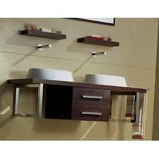"Brio 47.2"" Wall Mounted Bathroom Vanity Set"